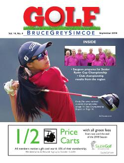 Golf BruceGreySimcoe - September 2018 Edition